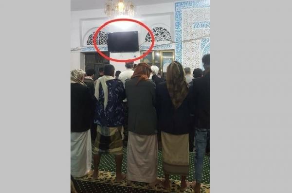 إب: الحوثيون تُجبرون أئمة المساجد على تركيب شاشات لمشاهدة خطابات زعيمهم