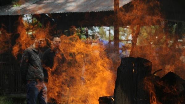 هندية تستيقظ قبل لحظات من حرق جثتها