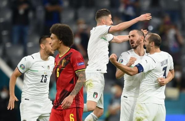 يورو 2020: إيطاليا تتخطّى بلجيكا وتضرب موعد مع إسبانيا في نصف نهائي