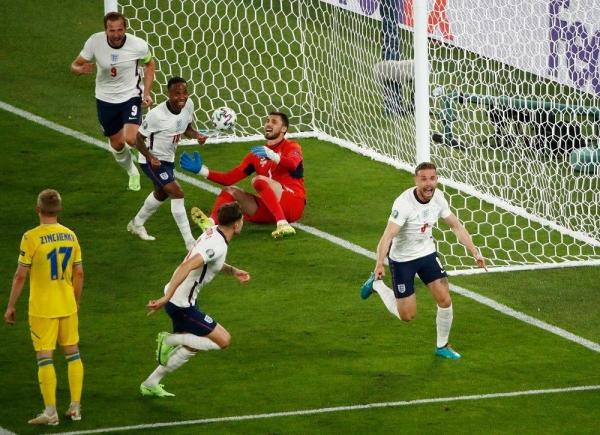 منتخب إنجلترا يكتسح أوكرانيا ويعبر بقوة إلى نصف نهائي يورو 2020