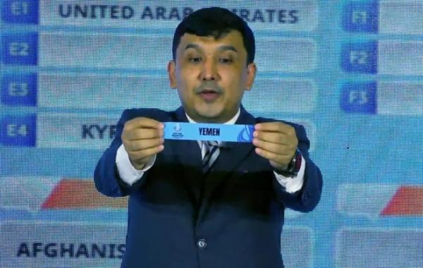 """القرعة تضع """"الأولمبي اليمني"""" ضمن المجموعة الأولى من تصفيات آسيا"""