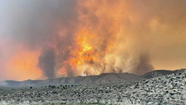 """حرائق ضخمة تجتاح غربي الولايات المتحدة بسبب إرتفاع """"درجة الحرارة"""""""