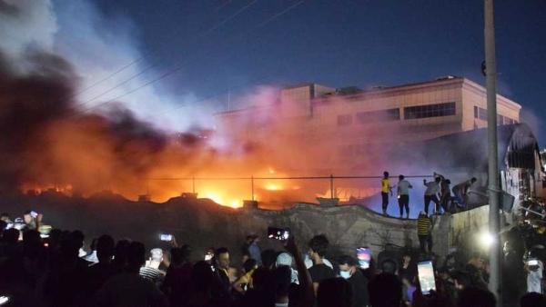 العراق.. ارتفاع ضحايا حريق المستشفى إلى 92 قتيلا واستمرار البحث عن ضحايا تحت الأنقاض