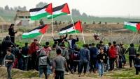 """الفلسطينيون يواصلون احتجاجاتهم في إطار """"مسيرة العودة"""" للجمعة الرابعة على التوالي"""