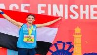 """العداء اليمني """"يزن خيري"""" يحقق المركز 33 في ماراثون بيروت الدولي"""
