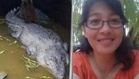 شاهد - تمساح يبتلع عالِمة إندونيسية حية كانت تحاول إطعامه
