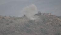 تعز: الجيش يقصف مواقع وتجمعات الميليشيا ويدمر غرفة عمليات غرب المدينة