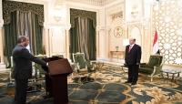 وزيرا الخارجية والمالية يؤديان اليمين الدستورية أمام الرئيس هادي