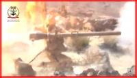 شاهد.. فيديو حديث لمعارك الجيش الوطني في جبهة نهم