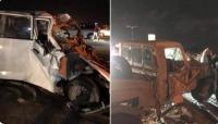 عدن: وفاة وإصابة 10 جنود ومدنيين في حادثة تصادم مروعة