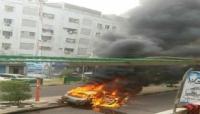 مجهولون يحرقون سيارة مسؤول محلي في عدن